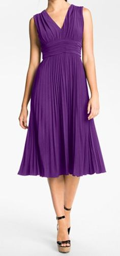 Pleated dress - perfect for a bridesmaid - on sale for under $65! http://rstyle.me/n/jwhyznyg6