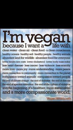 I'm a Vegan Because.....