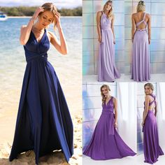 Women Evening Dress Convertible Multi Way Wrap Bridesmaid Formal Long Dresses  #Fashion #BallGownMaxiSexySundressWrapDress #ClubwearCocktailFormalBeachDressyHoliday