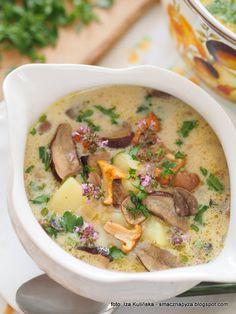 domowa_zupa_ze_swiezych_grzybow Cheeseburger Chowder, Soup Recipes, Food, Fungi, Kochen, Essen, Yemek, Meals, Soap Recipes