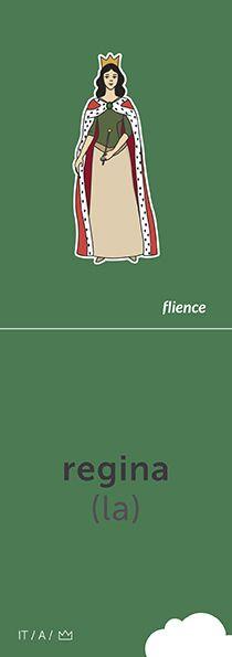 Regina #CardFly #flience #history #kingdom #italian #education #flashcard #language