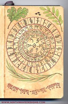 Alchemy Notebook: Cipher Wheel by Ninth Wave Designs, via Flickr