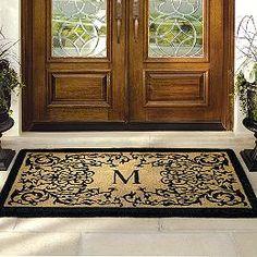 Good Personalized Front Door Mat Stenciles | Courtyard Coco Monogrammed Door Mat