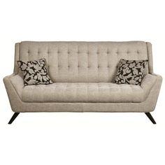 Coaster Natalia Retro Sofa w/ Flared Arms - Coaster Fine Furniture