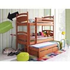 """Våningssäng """"Sally"""" (3 sängar) + förvaring + fri frakt"""