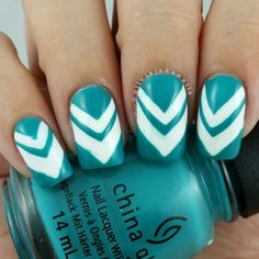 Today's #nailartchallengemay theme is chevron. Polishes used are #opi Alpine Snow and ... | Use Instagram online! Websta is the Best Instagram Web Viewer!