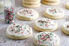 Giant Soft Sugar Cookies with Buttercream Frosting | Heather Homemade