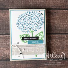 Thoughtful Branches, Thank you card, Stampin' Up!, Papercraft by Jennifer Frost