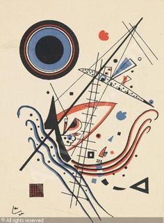 Wassily Kandinsky lithographie 1922