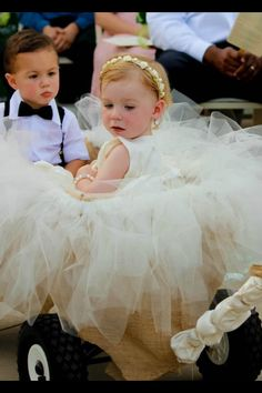 Flower Girl and Ring Bear in Wagon :) Or ring bearer pulls flower girl in the wagon!!!