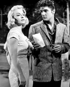 """""""Happy birthday Born Oct 1936 in Chicago, Illinois , EP and Jennifer worked together on film """"Jailhouse Rock."""" Jennifer played character of Sherry Wilson, blonde bombshell starlet. Jennifer and Nick Adams dated from March to June, 1958 Elvis Presley Movies, Elvis Presley Photos, Jailhouse Rock, Old Movie Stars, 3 Movie, Beautiful Voice, Beautiful Celebrities, Rock N Roll, Hollywood"""