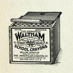 waltham school crayons