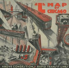 """A 1933 map produced in conjunction with that year's """"Century Of Progress"""" World's Fair in Chicago. The fair was so successful that it ran through 1934 as well . . ."""
