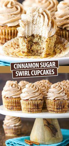 Cinnamon Roll Cupcakes, Swirl Cupcakes, Cupcake Cookies, Cinnamon Swirl Cake, Fun Baking Recipes, Sweet Recipes, Cookie Recipes, Dessert Recipes, Mini Cupcake Recipes