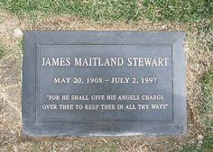 "THE GRAVE OF JIMMY STEWART  (actor; star of ""It's A Wonderful Life"")  at Forest Lawn in Glendale, California"