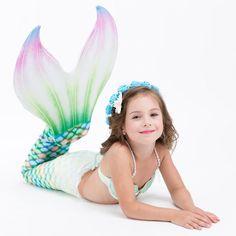 Mermaid Tail Swimwear Bathing Suit Cosplay Costume Bikini Swimsuit for Swimming , Mermaid Photo Shoot, Mermaid Pictures, Girls Mermaid Tail, Mermaid Tails For Kids, Princess Dress Kids, Princess Costumes, Ariel, Mermaid Tail Costume, Little Girl Costumes