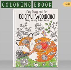 Łatwy Peasy i Zabawa Kolorowe Woodland Coloring Book