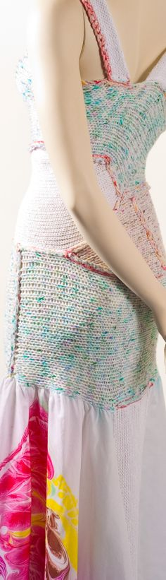 loom knit and marbled dress