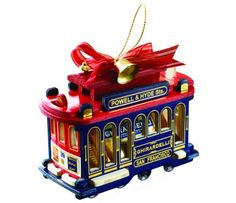 Ghirardelli Chocolate Stuffed Cable Car Ornament - Ornament Reviews