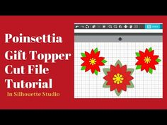 Join me as we create a poinsettia cut file in Silhouette Studio. Use it for your handmade cards, as a Christmas gift topper and more. Poinsettia, Silhouette Studio, Christmas Gifts, Make It Yourself, Create, Youtube, Cards, Handmade, Design