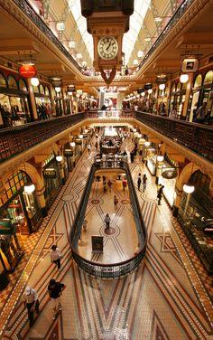 Inside the Queen Victoria Building, Sydney.