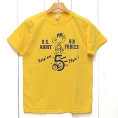 BUZZ RICKSON'S(バズリクソンズ)×PEANUTS『KEEP 'EM FLYING』SNOOPY・スヌーピー半袖Tee/br77288
