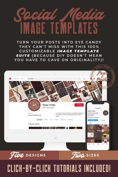 Turn your social media posts into eye candy they can't miss with this 100% customizable social media image template design suite because DIYing doesn't mean you have to cave on orginality (or personality)! Shop the Tipsy Trails Brand Identity or any of our other collections to get started today. #branding101 #brandingdesign #branding #design #socialmedia Social Media Images, Social Media Design, Social Media Tips, Social Media Marketing, Content Marketing, Facebook Marketing, Business Marketing, Digital Marketing, Brand Identity Design