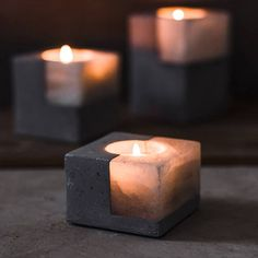 Style: New Classical/Post-modern . Candles For Sale, Home Candles, Diy Candles, Candle Decorations, Decorative Candles, Large Candle Holders, Handmade Candle Holders, Concrete Candle Holders, Modern Candle Holders