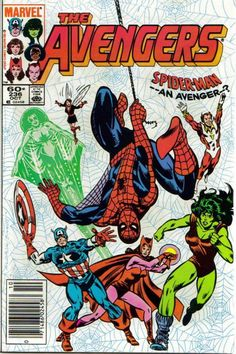 The Avengers 236 Comic Book Cover Marvel Comics Superheroes Books