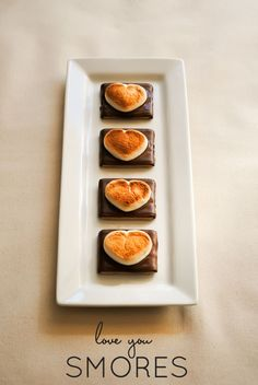I Love You S'Mores Recipe | by Carrie Sellman // The perfect easy recipe for Valentine's Day!