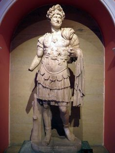 Cuirassed statue of Hadrian with cingulum wearing the Corona Civica, from the North Nymphaeum at Perga, Antalya Museum
