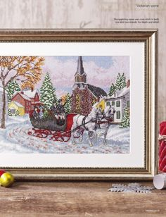 Victorian Christmas, Christmas Cross, Christmas Stuff, Cross Stitch Designs, Cross Stitch Patterns, Winter Solstice, Winter Scenes, Winter Holidays, Winter Wonderland