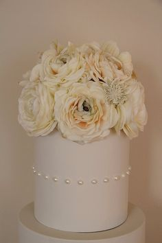 Vintage Inspired Floral Cake Topper by anchoredbliss on Etsy, $89.00