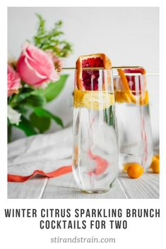 Winter Citrus Sparkling Brunch Cocktails for Two Cocktails For Two, Winter Cocktails, Easy Cocktails, Craft Cocktails, Summer Drinks, Cocktail Drinks, Cocktail Photography, Christmas Ham, Day Drinking