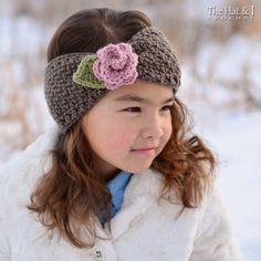 CROCHET PATTERN  Cottage Rose Warmer  crochet headwrap