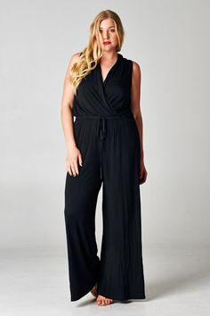 Madison Jumpsuit in Black on Emma Stine Limited