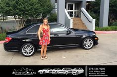 https://flic.kr/p/HACAMW | Happy Anniversary to Alisa on your #Mercedes-Benz #C-Class from David Stewart at Autos of Dallas! | deliverymaxx.com/DealerReviews.aspx?DealerCode=L575