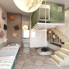 Recámaras infantiles de estilo minimalista por Shamsudin Kerimov Architects