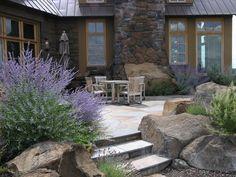 high desert landscaping pictures | Example of usage of rocks, Heart Springs Landscape Design