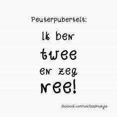 Peuterpuberteit : ik ben twee en zeg nee!  #peuters #opvoeding