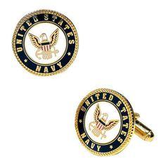 Men's Cufflinks Inc Enamel US Navy Cufflinks Multi