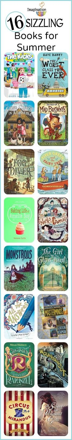 16 new chapter books + reviews - pinning this for my kids' summer reading!!