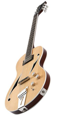 No-cut chambered mahogany w/ spruce top. Jazz Guitar, Guitar Art, Cool Guitar, Acoustic Guitar, Custom Electric Guitars, Custom Guitars, Archtop Guitar, Fender Guitars, Unique Guitars