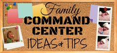 Family Command Center Ideas and Tips by My Paper Craze