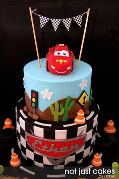 Cars Themed Cake For Ethan