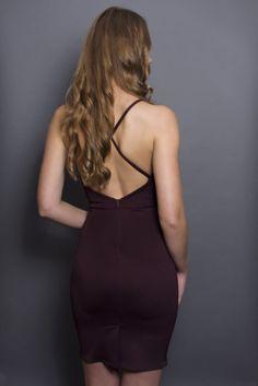 ALEXIS BROWN gorgeous dress by COMMON DESIGN brown mini dress