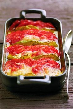Tian de tomates et de poivrons à la mozzarella - Larousse Cuisine