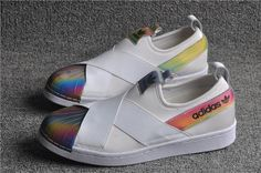 newest collection 96ec8 995e4 adidas Superstar Blanco rainbow Slip On W S82792 venta Zapatillas Adidas,  Zapatos, Adidas