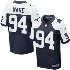 cc284920ced NFL Men's Elite Nike Dallas Cowboys #94 DeMarcus Ware Throwback Jersey  Dallas Cowboys Jersey,