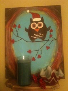 Owl I painted for Christmas